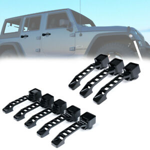 Aluminum Exterior Door Handles Tailgate Cover Trim For 07 18 Jeep Wrangler Jk