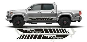 2x Side Vinyl Decals For Toyota Tacoma 2004 2020 Stripes Trd Sport Graphics