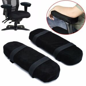 2pcs Memory Foam Chair Armrest Pad Comfy Office Chair Arm Rest Cover For Elbows