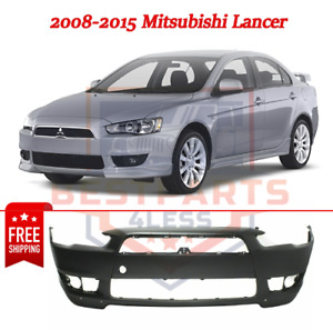 New Front Bumper Cover W Air Dam Holes Plastic For 2008 2015 Mitsubishi Lancer