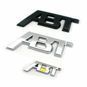 Abt Sticker Emblem Abs Plastics For Auto Car Body Side Trunk Lid Decals Badge