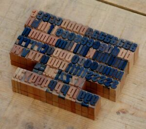 A z Alphabet 0 55 Letterpress Wooden Printing Blocks Wood Type Vintage Printer