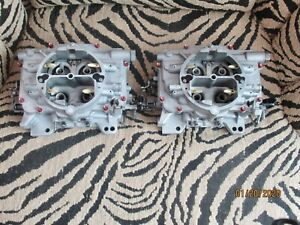 2x4 Dual Quad Supercharge Blower Tunnel Ram Pair Carter Afb 400 Cfm Carburetors
