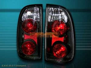 Fit For 2000 2004 Toyota Tundra Standard Access Cab Altezza Tail Lights Black