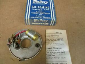 53 56 Mallory Distributor Advance Plate Tune Up Kit 25525a Buick Packard Pontiac