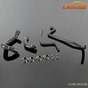 Silicone Radiator Heater Hose Kit For Jeep Wrangler Tj 4 0l 1997 2001 Black