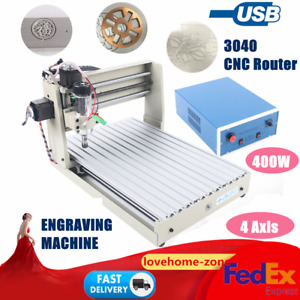 Usb 4 Axis 3040 Cnc Router Engraver Milling Engraving Machine Desktop Engraving
