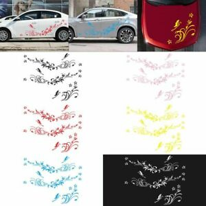 Waterproof Car Door Modified Decals Vinyl Stickers Natural Flower Vine Dragonfly