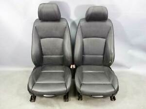 2008 2009 Bmw E90 3 series E91 Factory Front Sports Seats Black Leather Heat Oem