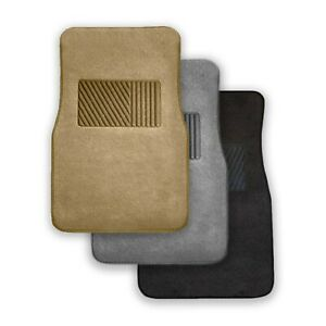 4pcs Car Floor Mats Carpet With Heel Pad Heavy Duty All Weather Universal Fit