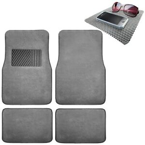4pcs Car Floor Mats Carpet With Heel Pad All Weather Universal Fit W Dash Pad