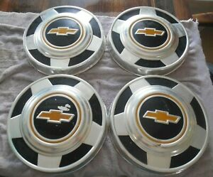 Vintage Chevy Pickup Truck Hubcap Set Of 4 Dog Dish used