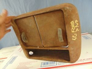 1946 1947 Era Ford Truck Heater Cover Part With Doors Original Used