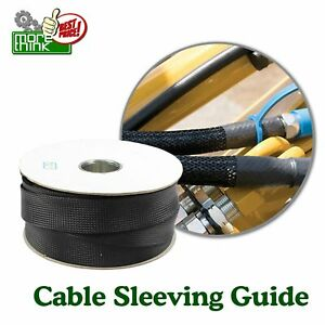 Cable Manage Super Braided Sleeve Wire Wrap Organize Black Loom Cord Protect Lot