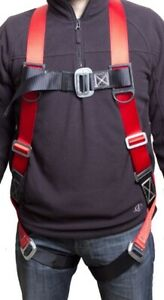 Fall Protection Harness Ring Full Body Ansi Osha Ul Roofers Construction Red