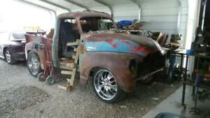 1952 Gmc Pickup Truck Rat Rod Project Cab S10 Frame 22 Wheels Ford 9 Bed