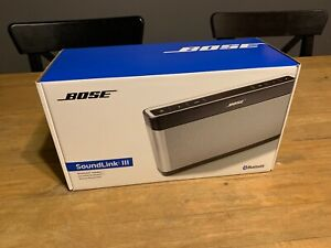 Bose SoundLink III Bluetooth Speaker Bose SoundLink 3 Silver - Brand New
