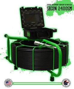 200 Usa Made Secon 2400sm Sewer Camera Pipe Drain Scope Inspection 512hz Sonde
