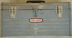 Craftsman Crown Logo 6500 Tool Box W Grey Tray Black Red Metal Badge Emblem