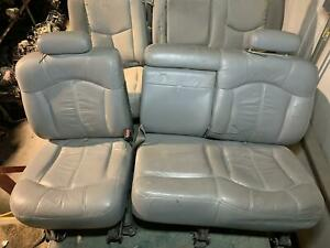 2001 Suburban 2500 2nd Row Middle Leather Fold Opt At5 Bench Seat Graphite 122