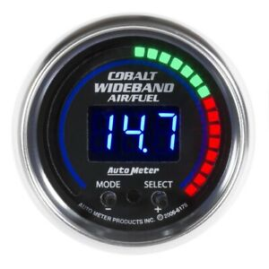 Auto Meter Cobalt 52mm Air Fuel Ratio Pro Plus Digital W Peak Warning Gauge