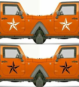 Set Of 2 America Us U s Army Distressed Star Vinyl Decal Sticker Dodge