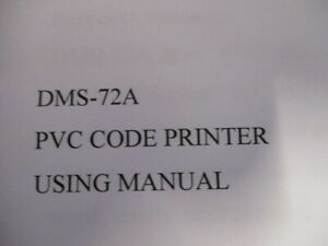 Pvc Code Printer Embosser Shzond Model Dms 72a With Handle Manual In Box