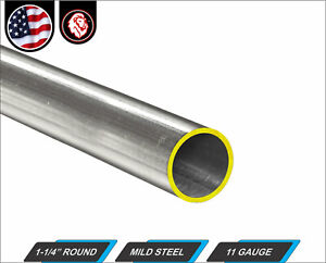 1 1 4 Round Tube Cold Formed Mild Steel 11 Gauge Erw 12 Long 1 ft