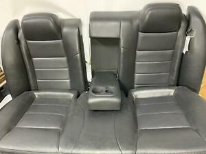 2009 Charger 2nd Row Rear Leather Seat Assembly Dark Slate Gray Trim Code dv