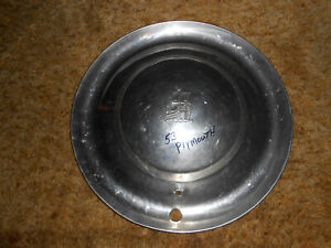 Vintage 1953 Plymouth Hubcap With Boat 15