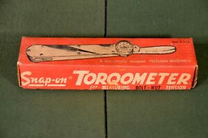 1960s Barely Used Snap On Torqometer Tq 6 In Original Box