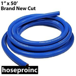High Performance Silicone Heater Hose 1 Id X 50 Ft Blue 1 00 25mm