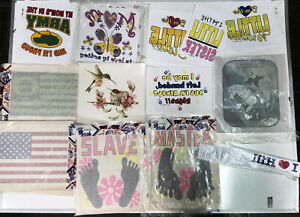 Vintage Iron On Transfer Lot 12 70s 80s T Shirt Transfers 50 Or More Per Lot