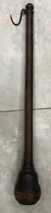 Antique Vintage Counter Weight Wood Top Hook