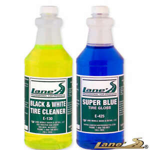 Lane s Super Blue Tire Gloss Shine And Tire Cleaner Kit 32oz