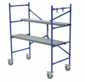 4 Ft X 3 8 Ft X 2 Ft Portable Rolling Scaffold 500 Lb Load Capacity Strength