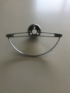 1960 63 Chevy Corvair Monza Steering Wheel Chrome Horn Ring Gm Oem