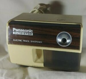 Vintage Panasonic Auto stop Electric Pencil Sharpener Kp 110 Tested Working
