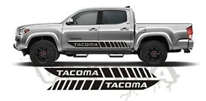 2x Side Vinyl Decals For Toyota Tacoma 2004 2020 Racing Stripes Usa Graphics
