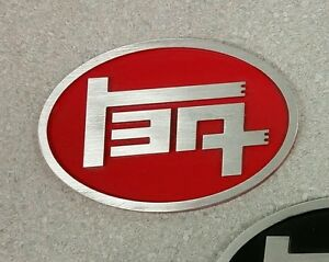 Aluminum Teq Badge Universal Red Oval