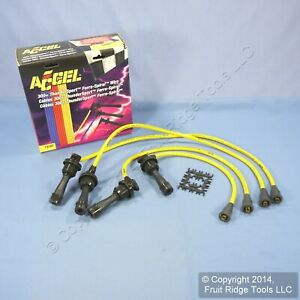 Accel 7920y 300 Yellow Thundersport Ferro Spiral 8mm Spark Plug Wire Set