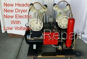 Medical Dental Oil Less Compressor Dual Heads 2 Hp Quite Oil Free Compressed Air