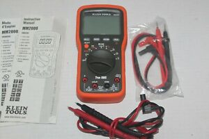 Klein Tools Multimeter Mm2000 Hardly Used With Manuals More