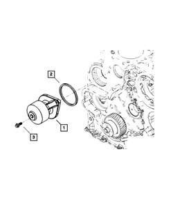 Genuine Mopar Water Pump 68414058ab