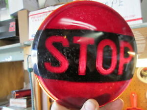 Vintage Tail Light Lens With Word Stop
