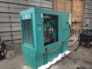 Onan Cummins 50dgca Genset Generator 4bt Diesel Engine Video Low Hrs 50 Kw 1ph