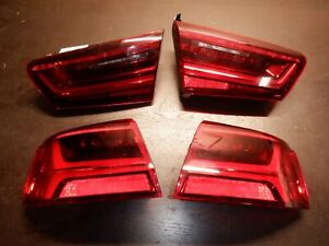 2015 2016 Audi A6 s6 Face Lift Tail Lights Inner Outer Used Oem