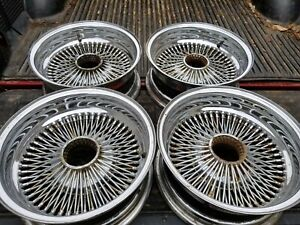 Used Set Of 4 15 X 6 Wire Wheels