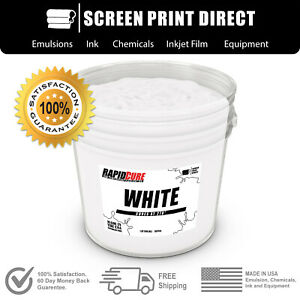 White Screen Printing Plastisol Ink Low Temp Cure 270f 1 Quart