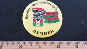 Vintage Hart-Parr Oliver Collectors Association Pinback Button